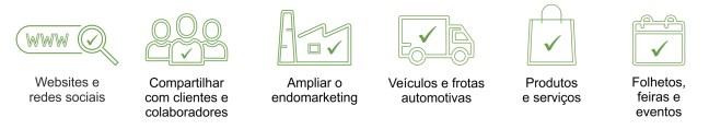 Imagem mostra informações do selo verde Ecooar