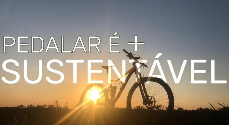 Foto mostra bike com o Sol ao fundo