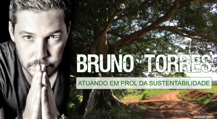 Foto mostra Bruno Torres e árvore