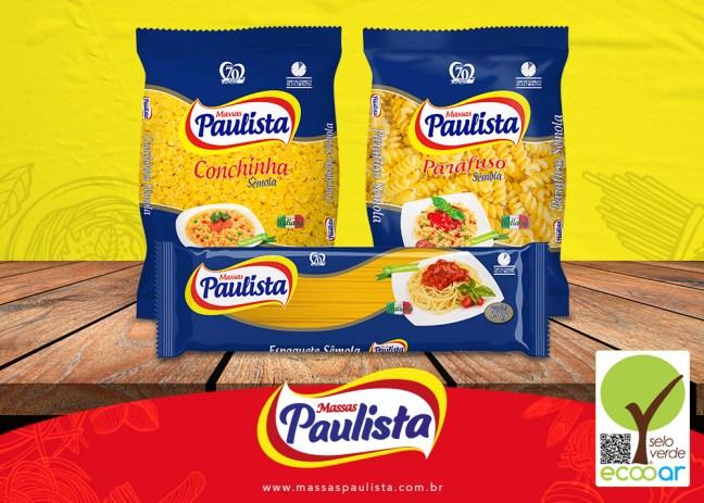 Imagem mostra produtos da Massas Paulista