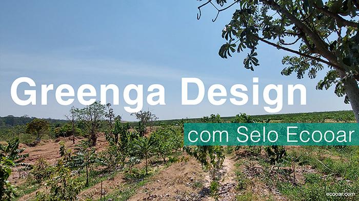 Foto mostra área de reflorestamento onde a Greenga Design está presente