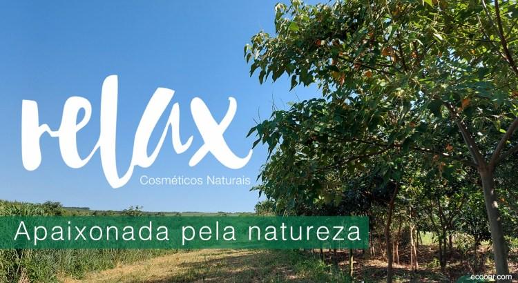 Foto mostra florestamento com a marca Relax Cosméticos sobre a foto