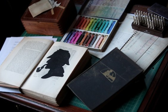 Building the Mysteries of Vernacular book. Photograph by Jessica Oreck