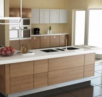 Cucina Moderna Con Isola Stunning Cucina Moderna In Legno
