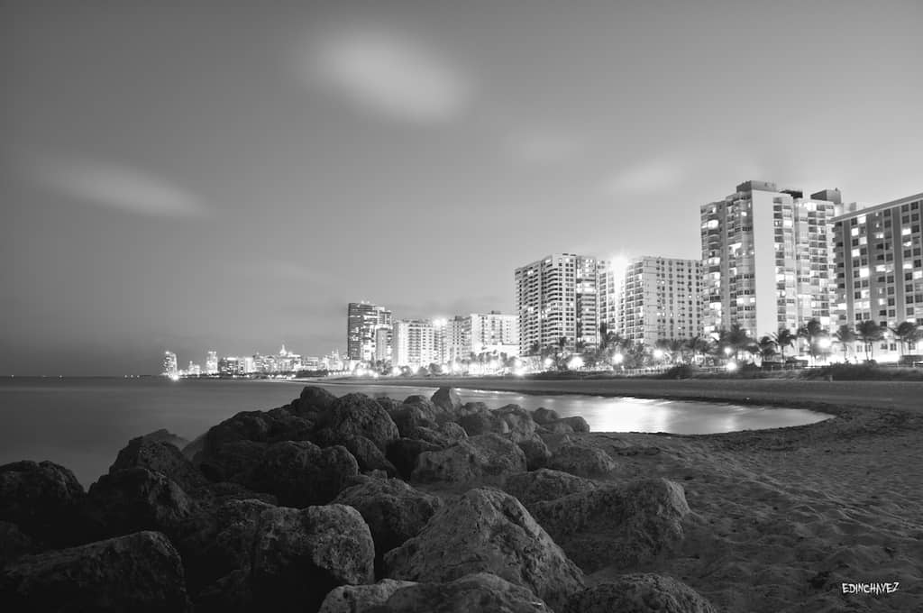 Daily Photo-South Beach At Midnight - image  on https://blog.edinchavez.com