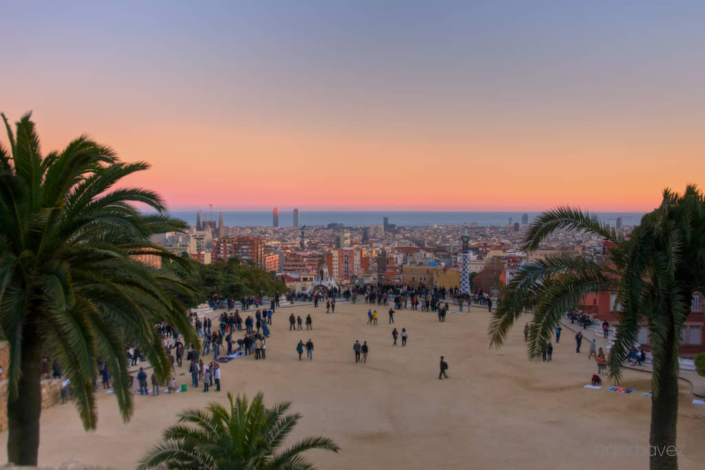 Shot of the Day-View from Parc Guell - image  on https://blog.edinchavez.com