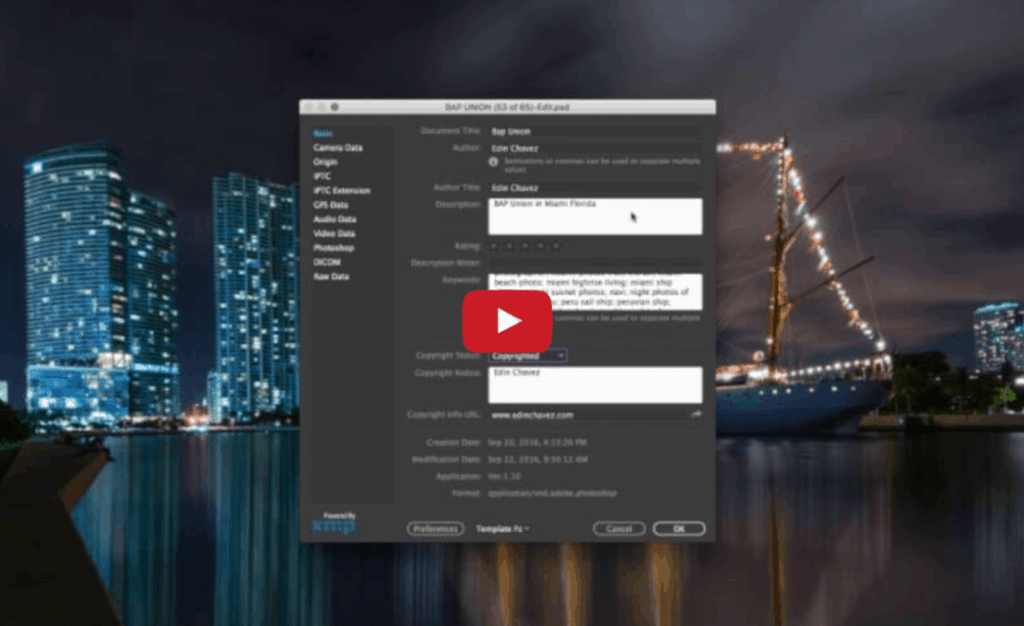 How to add keywords to your photos in Photoshop - image  on http://blog.edinchavez.com