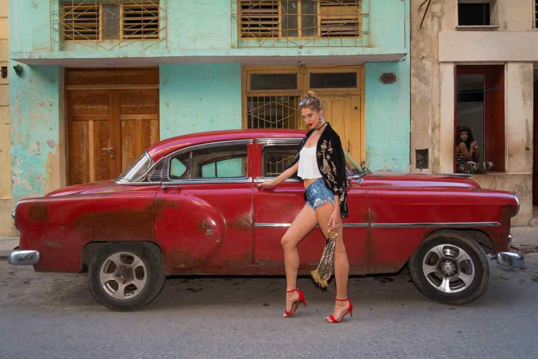 stuck in havana cuba blonde model in havana