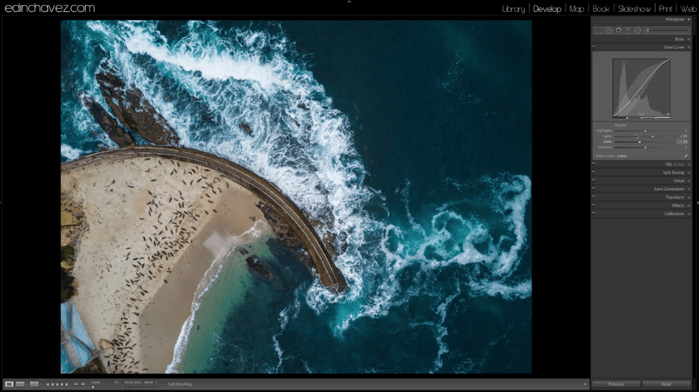 How to edit drone photos in Lightroom