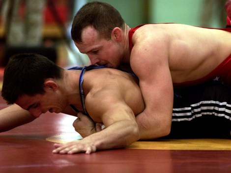 Wrestling—a part of both ancient and modern Olympiads—is the leading contender to be added to the 2020 Summer Olympics. It was just taken off the scheduled sports in February. Photograph by Staff Sergeant Jeremy T. Lock, USAF