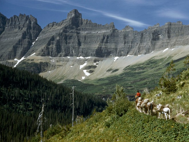Glacier National Park, Montana? Outcrops in this national park are the result of orogeny—mountain building—as well as the remains of the last ice age, when glaciers scoured the northern U.S. landscape. Elaine, I know you are partial to the Badlands. Photograph by Kathleen Revis, National Geographic