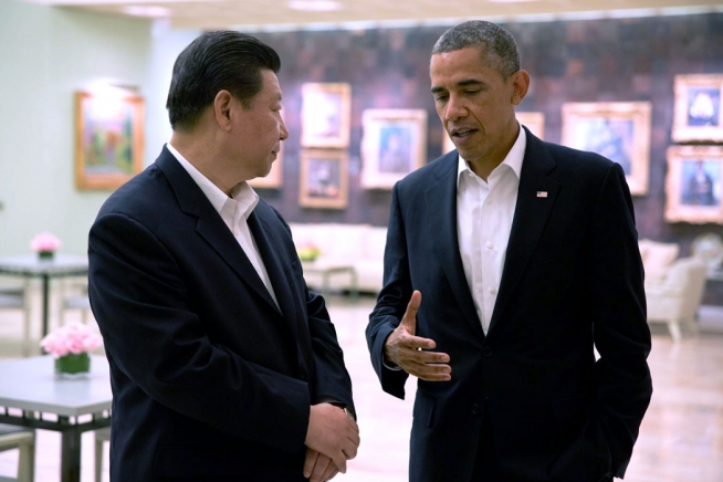Chinese President Xi Jinping and U.S. President Barack Obama have met several times before, including this meeting in Rancho Mirage, California, in 2013. Official White House Photo by Pete Souza
