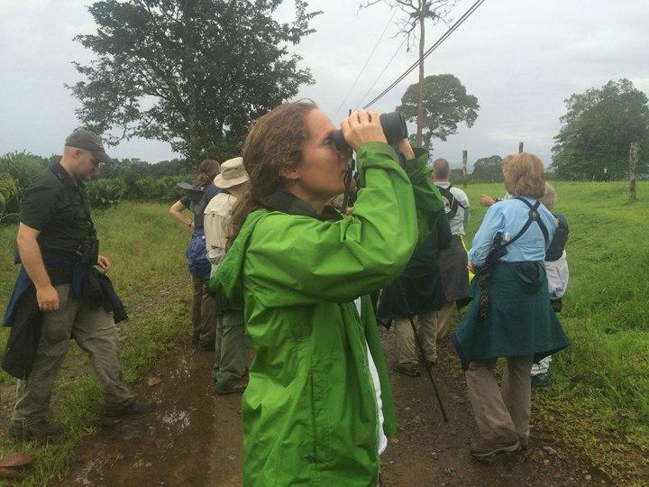 Amy Clapp birdwatching