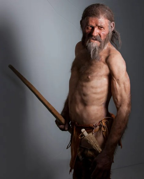 """This rugged Italian gentleman is Otzi, the Alpine caveman frozen in time. Upon his discovery in 1991, he was quickly nicknamed the """"Iceman,"""" and has since become """"one of science's most carefully studied cadavers."""" Photograph by Robert Clark, National Geographic"""