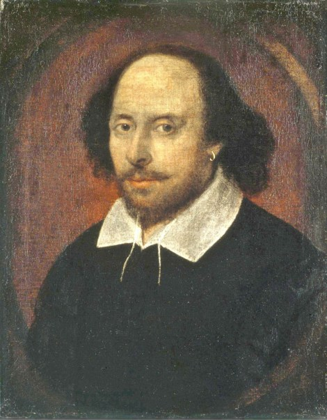 The so-called Chandos portrait, attributed to John Taylor, is the most famous image of William Shakespeare. We think. Painting attributed to John Taylor, courtesy the National Portrait Gallery. Public domain.
