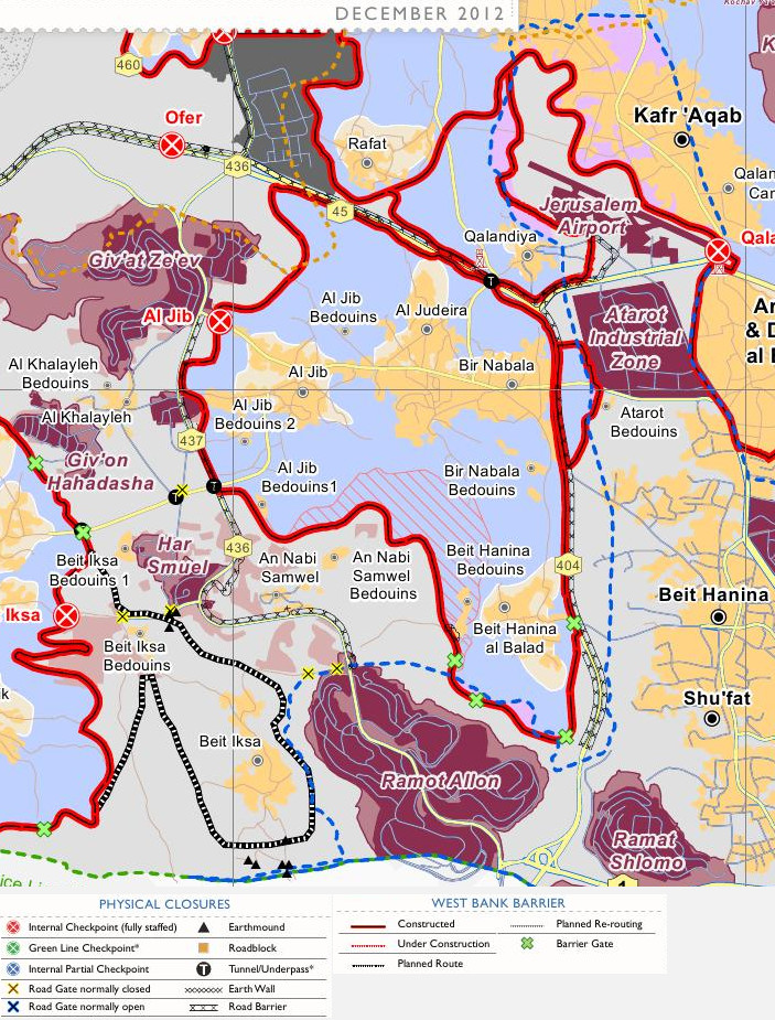 A faulty GPS app allegedly directed non-combat Israeli soldiers into Qalandiya, a village just southwest of the Jerusalem Airport. The clashes that erupted left at least one Palestinian dead and 10 injured, one seriously. At least 10 Israeli soldiers also were wounded during the hour-long operation. Map by Wickey-nl, courtesy Wikimedia. CC-BY-SA-3.0