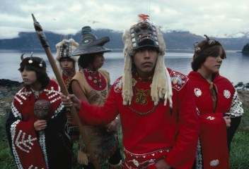 These Tlingit dancers speak Tlingit, an endangered language spoken in western Alaska and Canada. Photograph by David Alan Harvey, National Geographic