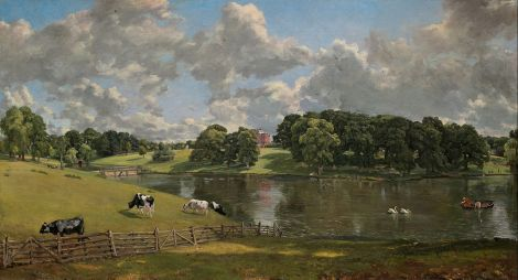 Wivenhoe Park, Essex (1816), by John Constable (of course), courtesy the National Gallery of Art (UK). Public domain.