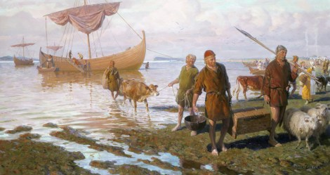 Vikings made it to the Maritimes, why not the Mojave? (A lot of reasons, actually.) Illustration by Tom Lovell, National Geographic