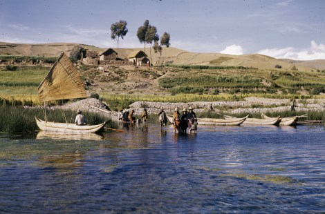Lake Titicaca sits in the Andes, about 3,810 meters (12,500 feet) above sea level, making it the world's highest lake. Photograph by Carl S. Bell, National Geographic