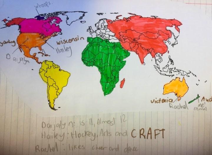 Student Map of PenPals