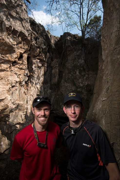 (11) Steve Tucker and Rick Hunter, two of the cavers who found the Dinaledi Chamber. cc Wits University