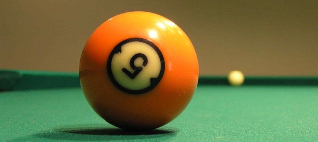 Number five pool ball