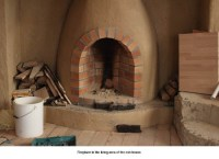 A fireplace in a cob house  Education in Ireland Student ...