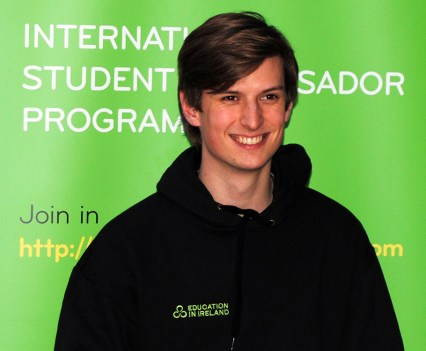Mary Immaculate College Ambassador Patrick Smyth
