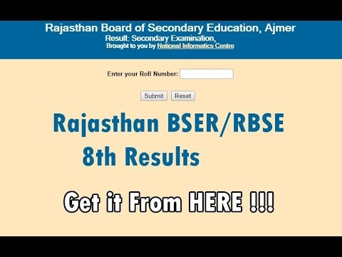 Rbse 8th result 2018 bser rajasthan board declares class 8 results rbse 8th result 2018 bser rajasthan board declares class 8 results check your result here malvernweather Image collections
