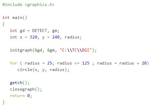 c graphics program example