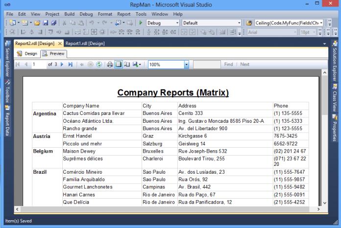 Tabular Reports (Tablix) 2