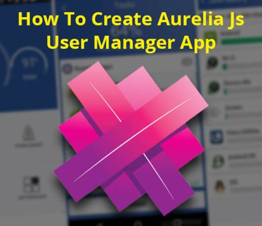 Aurelia Js User Manager App