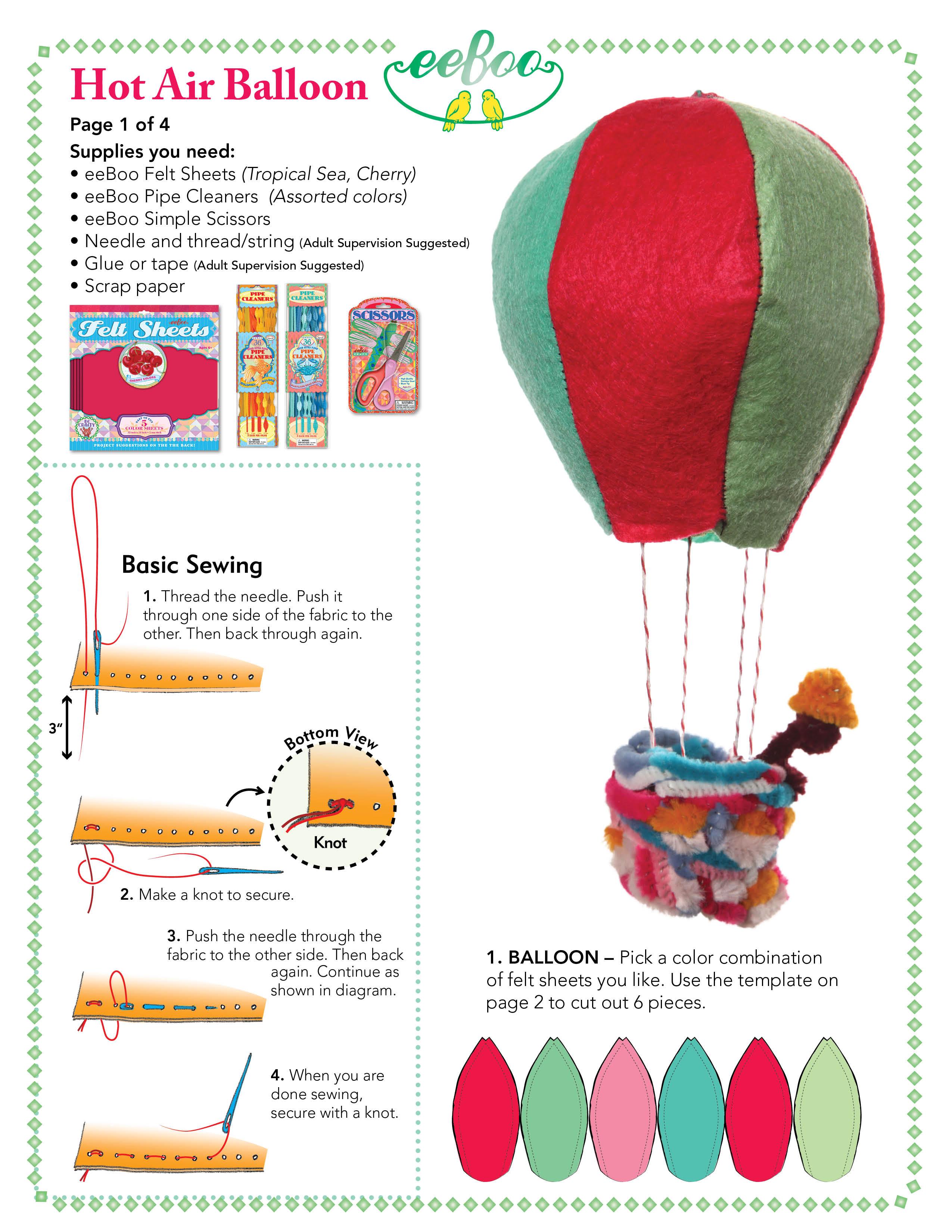 Eeboo Studio Blog Archive Craft Idea Hot Air Balloon