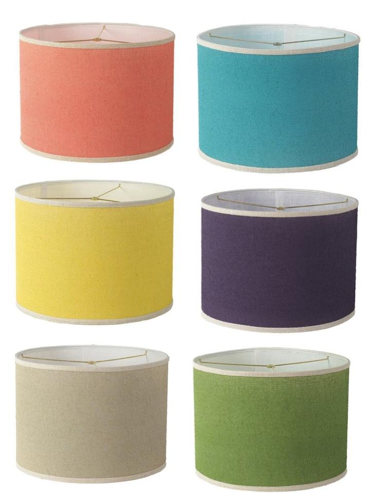 Diy Colored Burlap Lampshade