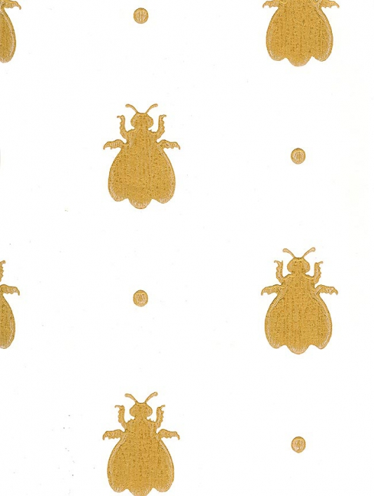 Cute Bees Wallpaper Hand Stamped Bee Walls