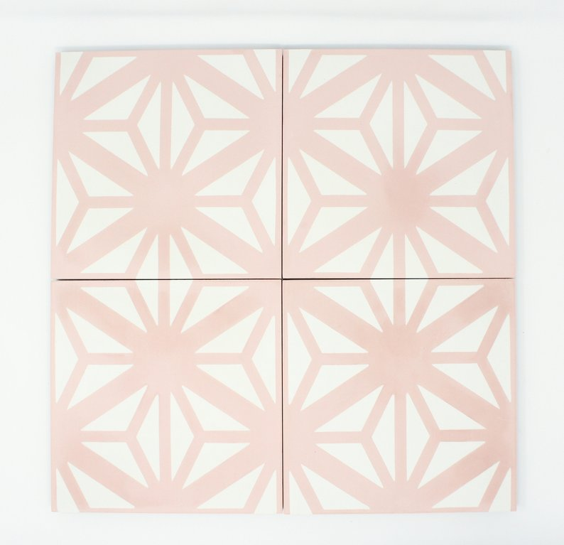 pink and white cement tile showit blog