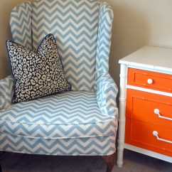 Wingback Chair Slipcover Pattern Zebra Print Bean Bag Walmart Sneak Peek Ramirez Guest Room Effortless Style Blog