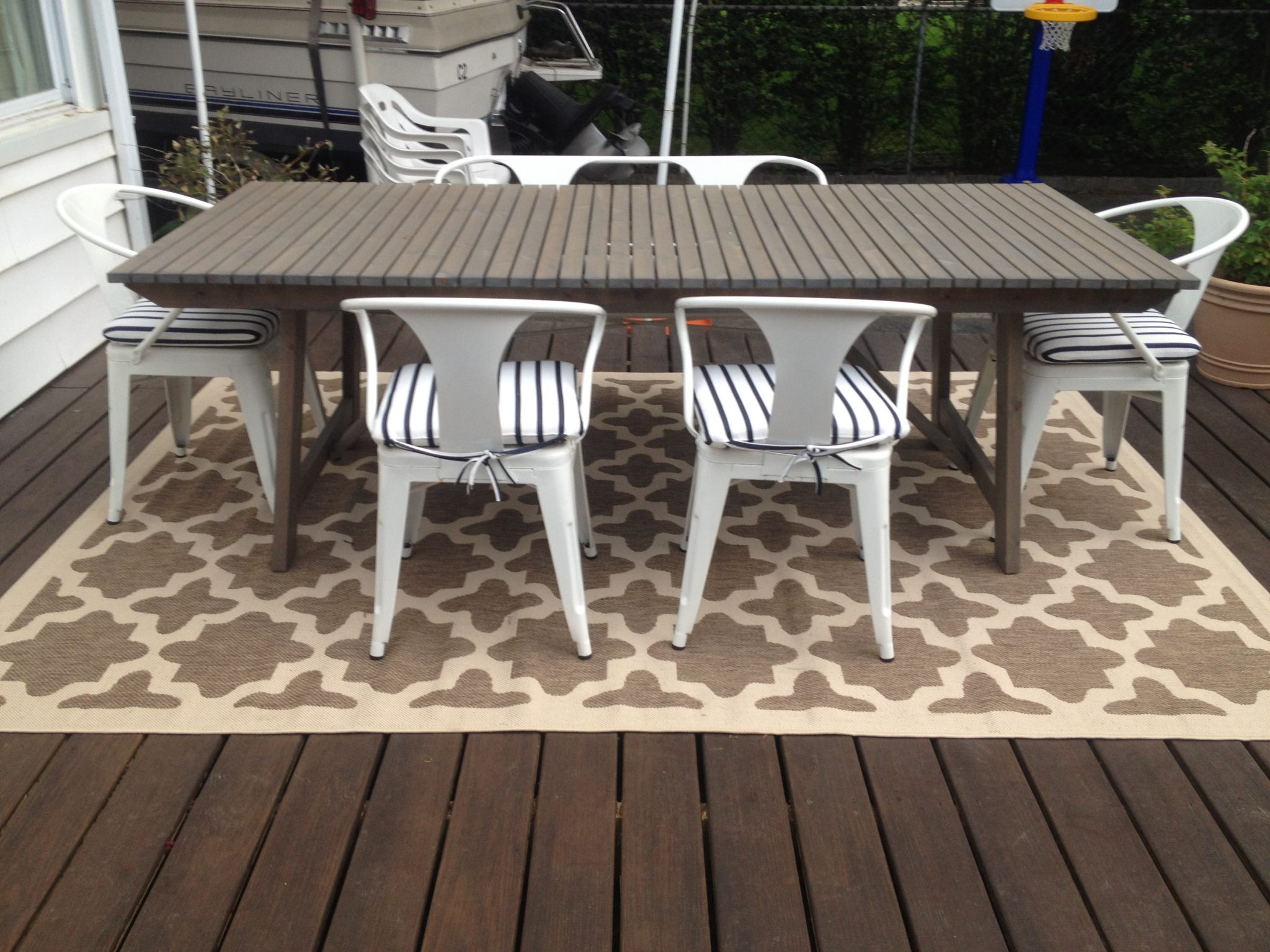 Patio Progress: Outdoor rug
