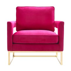 Pink Arm Chair Day Care High Table Perfect Duo Velvet And Brass Effortless Style Blog