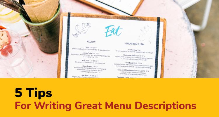 writing menu descriptions