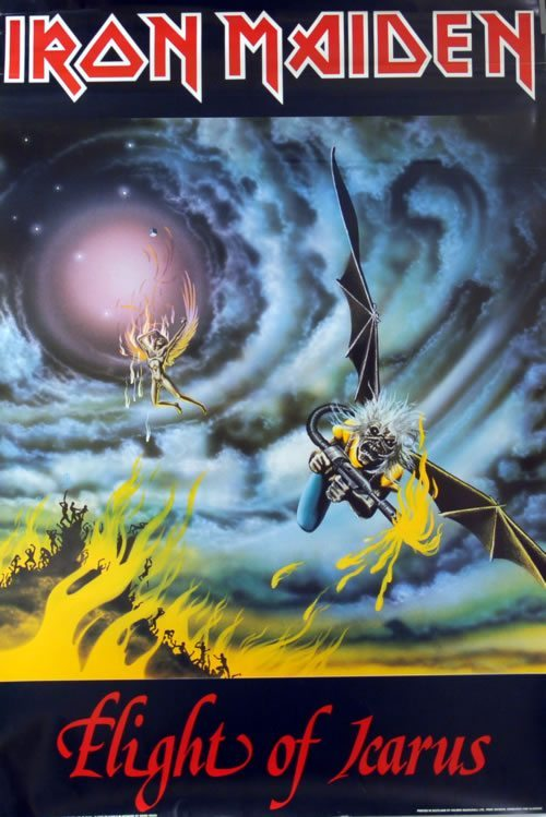 Vintage Poster Of The Day Iron Maiden Flight Of Icarus