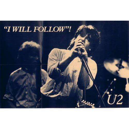 "U2 I Will Follow Poster Sleeve 7"" Vinyl"