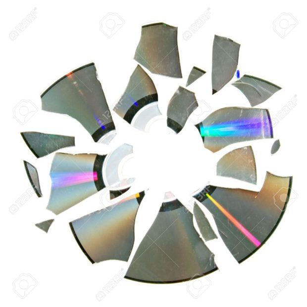 5608802-The-compact-disk-broken-into-small-pieces-Stock-Photo