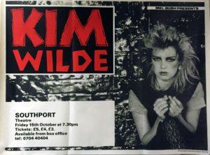 Kim Wilde Southport Theatre - Rare original 1982 UK promotional poster