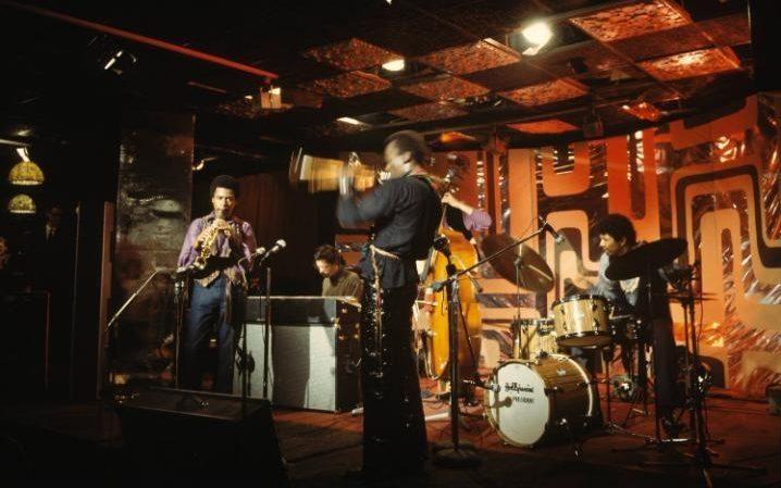 Shorter performing with Chick Corea, Miles Davis, Dave Holland, Jack DeJohnette at Ronnie Scott's in 1969 CREDIT: DAVID REDFERN/REDFERNS