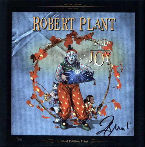 Robert Plant Band Of Joy Autographed Limited Edition