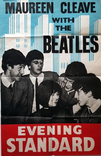 Maureen Cleave With The Beatles Rare Original 1964 UK Evening Standard Poster Advertises Interview London Reporter