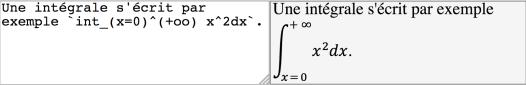 exemple de formule ascii math