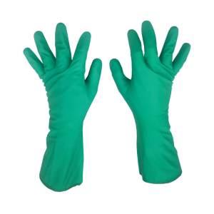 Luva Danny Nitrilica Verde Com Forro